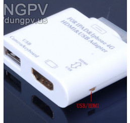 IPHONE 4G/IPAD/ipad2 - HDMI adapter