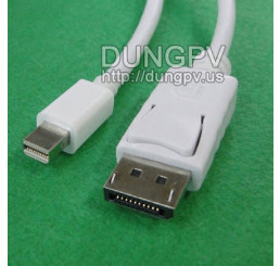 Cáp mini Displayport to Displayport