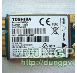 Toshiba F3607GW lắp all laptop