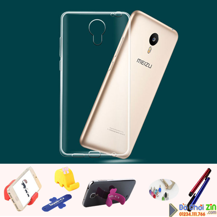 Ốp lưng silicone trong suốt Meizu  Blue Charm2