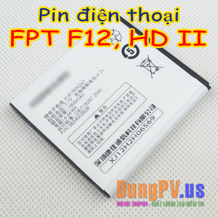 pin điện thoại FPT F12, FPT HD ii